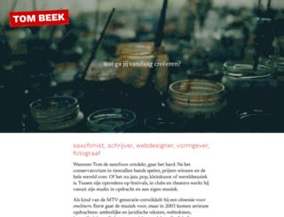 tombeek.nl screenshot