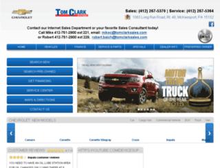 tomclarkchevrolet.com screenshot