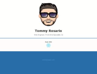 tommyrosario.com screenshot