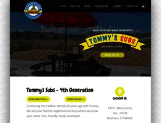 tommyssubs.com screenshot