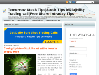 tomorrowstocktips-india.blogspot.in screenshot