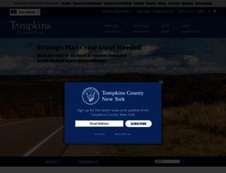 tompkinscountyny.gov screenshot
