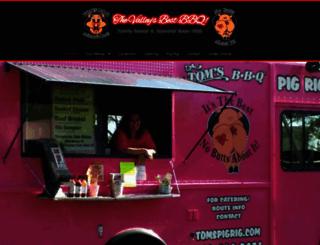tomsbbq.com screenshot