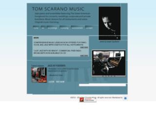 tomscaranomusic.com screenshot
