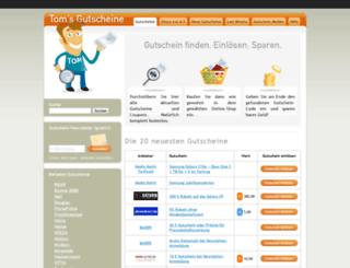 tomsgutscheine.de screenshot