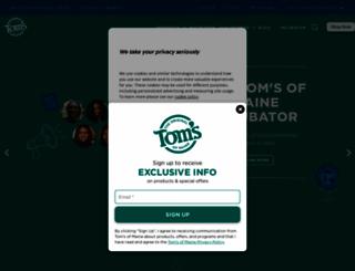 tomsofmaine.com screenshot