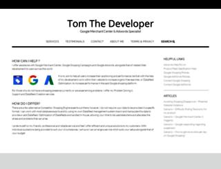 tomthedeveloper.com screenshot