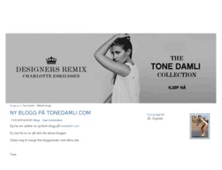 tonedamli.blogg.no screenshot