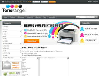 tonerangel.com.au screenshot