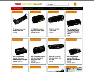 tonercartridgescanada.ca screenshot