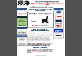 tonerimpresoras.com screenshot