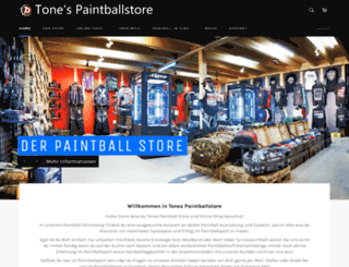 tones-paintballstore.com screenshot