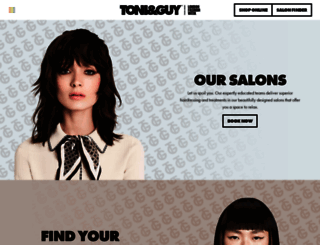 toniandguy.com screenshot