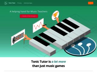 tonictutor.com screenshot