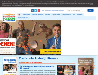 tonnenmaand.postcodeloterij.nl screenshot