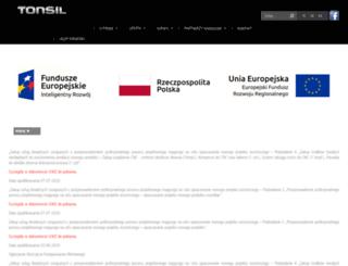tonsilproducent.pl screenshot