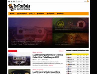 tontonbola.blogspot.com screenshot