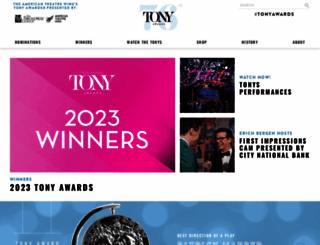 tonyawards.com screenshot