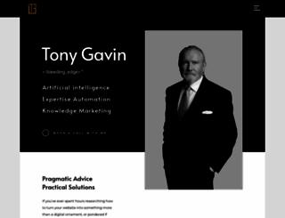 tonygavin.com screenshot