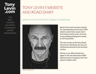tonylevin.com screenshot