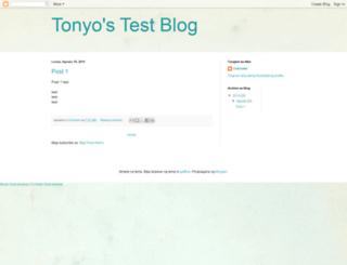 tonyostestblog.blogspot.fr screenshot
