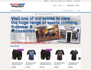 tonyprycesports.co.uk screenshot
