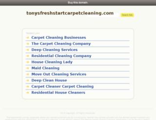 tonysfreshstartcarpetcleaning.com screenshot