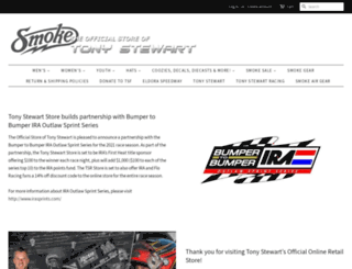 tonystewartstore.com screenshot