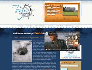 tonystunafishing.com screenshot