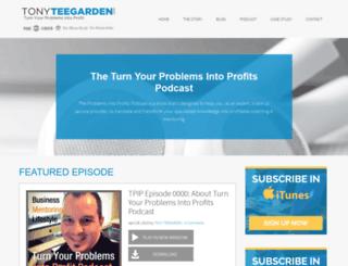 tonyteegarden.com screenshot