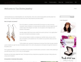 toodivinejewelry.com screenshot