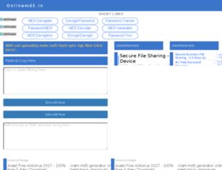 tool.onlinemd5.in screenshot
