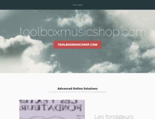 toolboxmusicshop.com screenshot