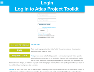 toolkit.atlasproject.net screenshot