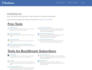 tools.buzzstream.com screenshot