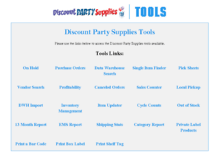tools.discountpartysupplies.com screenshot