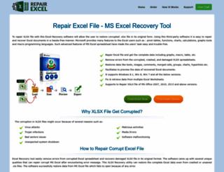 toolto.repairexcelfile.com screenshot