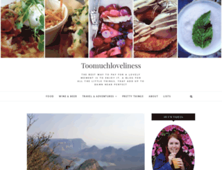 toomuchloveliness.com screenshot