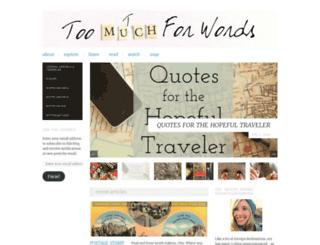 toomutchforwords.wordpress.com screenshot