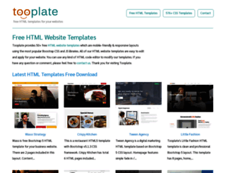 tooplate.com screenshot