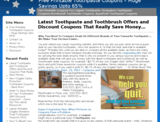toothpastecouponshq.com screenshot