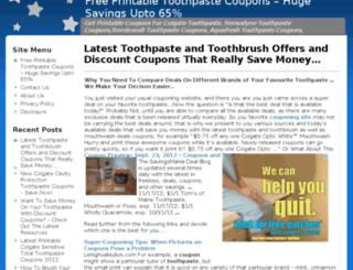 toothpastecouponshq.com screenshot