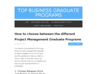 top-business-graduate-programs.com screenshot