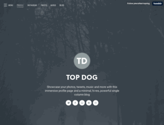 top-dog.precrafted.com screenshot