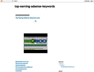 top-earning-adsense-keywords.blogspot.in screenshot