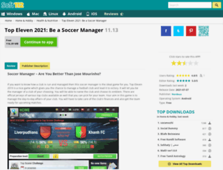 top-eleven-football-manager-token-trainer-tool.soft112.com screenshot