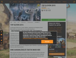 top-eleven.browsergames.de screenshot
