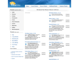 top-memory-booster.winsite.com screenshot