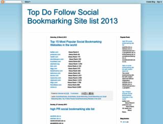 top-social-bookmarking-site.blogspot.in screenshot