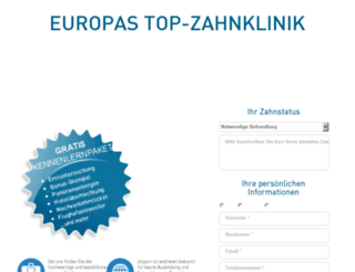 top-zahnklinik.de screenshot